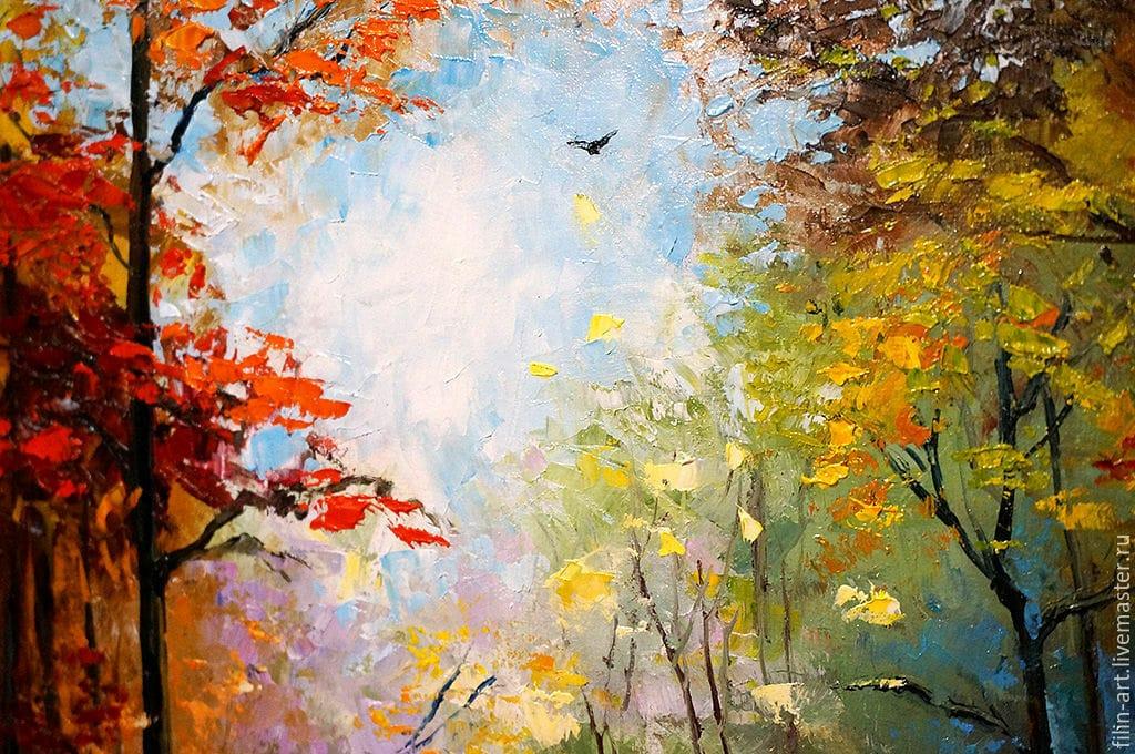 мастер-класс по живописи маслом «Золотая осень»
